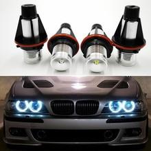 2Pcs Car Flashing for BMW E39 E53 E60 E61 E63 E64 E65 E66 E87 525i 530i Xi 545i Error Free LED Angel Eyes Marker Lights Bulbs