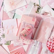 28 folhas/conjunto kawaii rosa série lomo cartão mini cartão postal diy cartões de aniversário presente cartão de mensagem