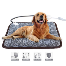 Pet Dog Cat Waterproof Electric Heating Pad 45x45cm Animals Bed Heater Mat Winter Warmer Carpet Blanket