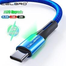 Cabo usb tipo c, cabo de dados usb tipo c, carga rápida qc 3.0, fio de carregamento 0.5/1/2 meter samsung a51 5g m31 tcl 10 meizu 17 pro