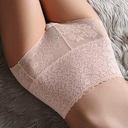M-XXXL Women High Waist Lace Panties Sexy Underwear Women  Floral Transparent Lingerie Female Briefs Underpants Plus Size Pantys