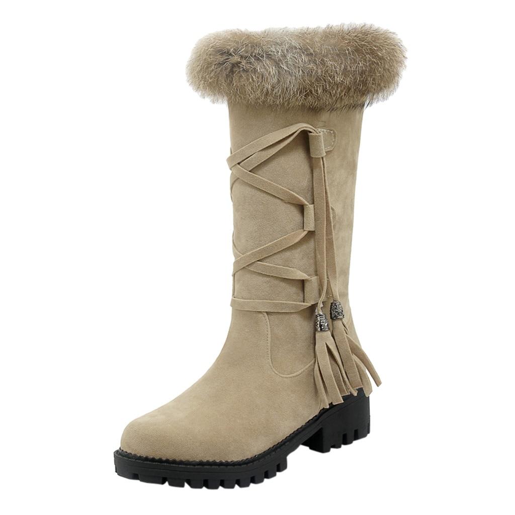Suede Plus velvet Winter Boots Women Knee High Long Boots Fashion short plush Snow Boots Women Winter Warm Platform woman shoes 54