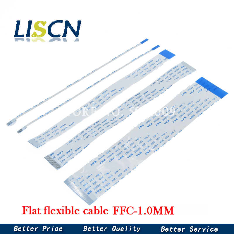 10PCS Flat flexible cable FFC FPC LCD cable AWM 20624 80C 60V VW-1 FFC-1.0MM
