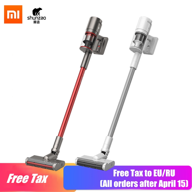 NEW Technology Xiaomi Vacuum Cleaner SHUNZAO Z11 Vacuum Cleaner Self-clean Hair Cutting 26000Pa Replaceable Battery Design