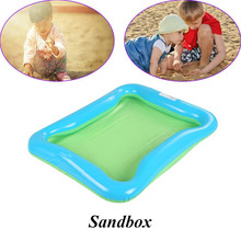 Inflatable Sand Tray Toys Indoor play sand table beach children PVC soft light convenient Magic Outdoor Fun Sports Random Color цена