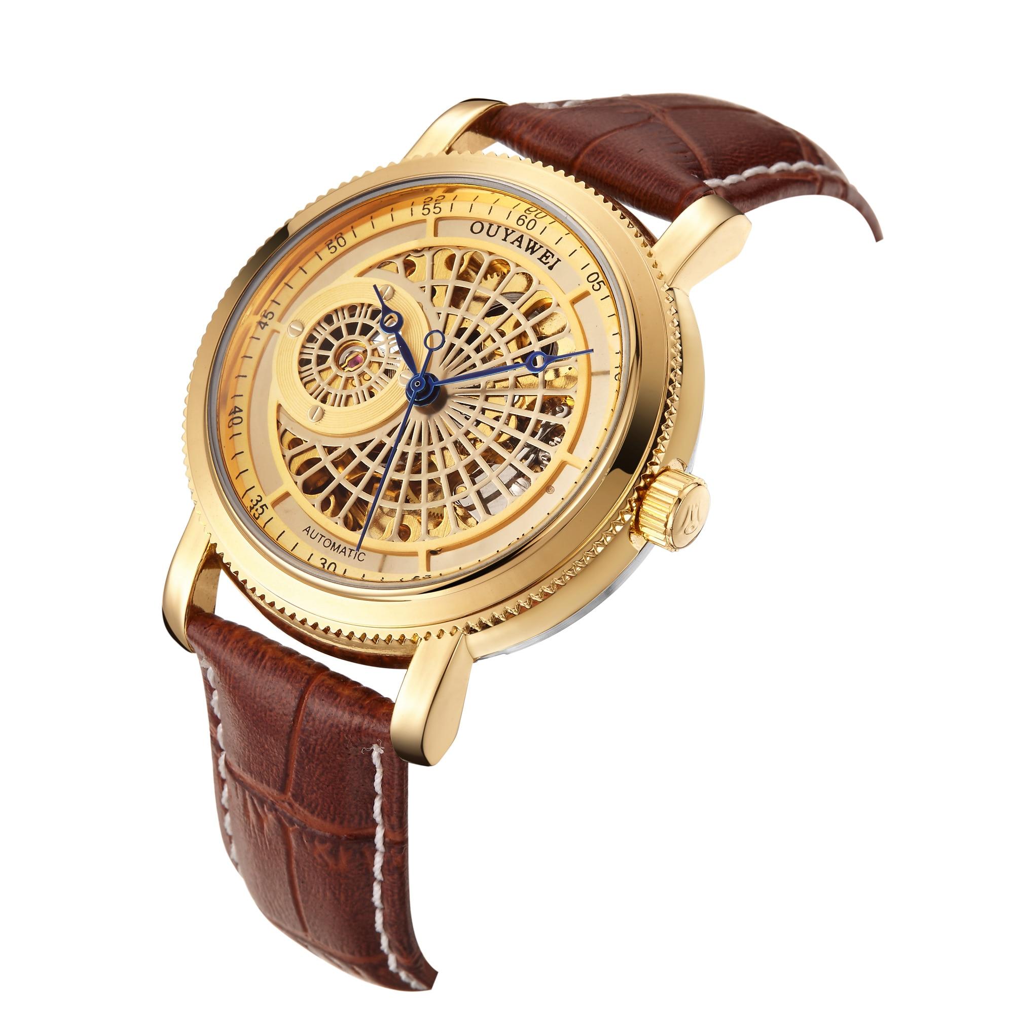 H1bdb717e8b214e7395f6999247362194C Mechanical Gold Watch Luxury Brand Self-winding
