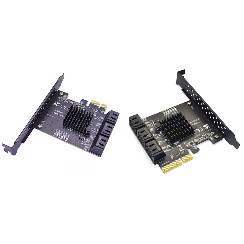 6Gbps SATA 3.0 to PCI-E Controller Card 6 Ports SATAIII PCIe Expansion Card PCI Express Adapter Converter