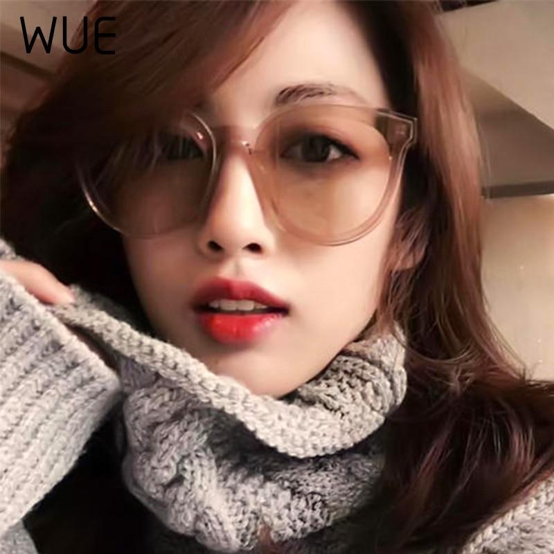 WUE Luxury HD Polarized Women Sunglasses Fashion Round Ladies Vintage Brand Design Cat Eye Woman Female Sun Glasses Oculos