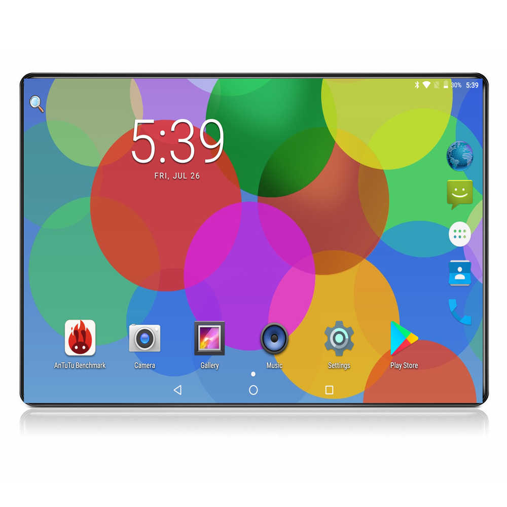10 Inch Octa Core 6G+64GB Android 9.0 Tablet PC Dual Sim 3G 4G FDD LTE Phone Call 1280x800 IPS WIFI Bluetooth GPS Media Pad