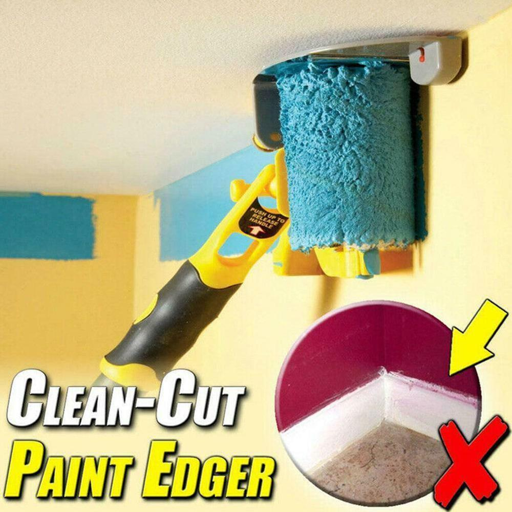 Clean-Cut Paint Edger Roller Brush Safe Tool Portable for Home Room Wall Ceilings Paint Edger Roller(China)