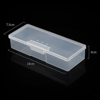 Stand Display Boxes Organizer Case Buffer Grinding Files Plastic Transparent Nail Art Equipment Storage Box Nail Manicure Tools image