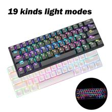 RK61 RGB Bluetooth Keyboard TYPE-C Light Effect Backlit Keyboard For PC Computer Laptop Gamer Gifts Adjustable Green axis 2021