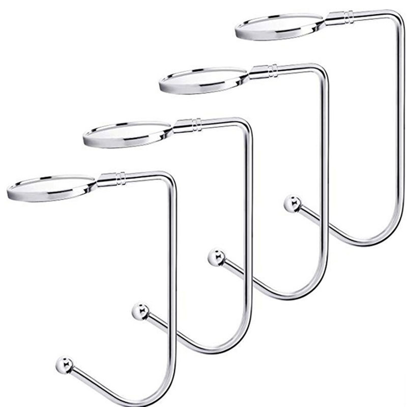 Portable Metal Hooks Hanging Hanger Storage Holders Buckle Organizer Household Christmas Stocking Hooks For Festive Party