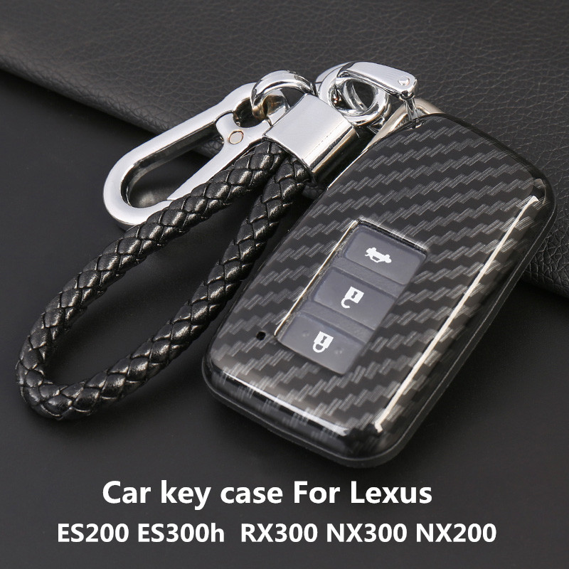 Car <font><b>Key</b></font> <font><b>Case</b></font> For <font><b>Lexus</b></font> ES200 ES300h <font><b>RX300</b></font> NX300 NX200 <font><b>Key</b></font> Cover Carbon Fiber image