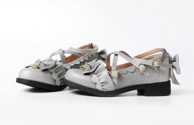 Фото аниме косплей туфли лолиты в винтажном стиле с круглым носком цена