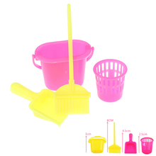 4Pcs/lot New Home Furniture Furnishing Cleaner Cleaning For Doll House Set Gift