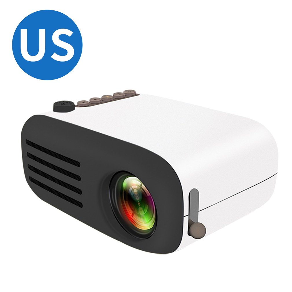 Mini Projector Yg200 Home Portable Led Projector Supports Hd 1080P Small Projector 20-60 Inch Projection Size