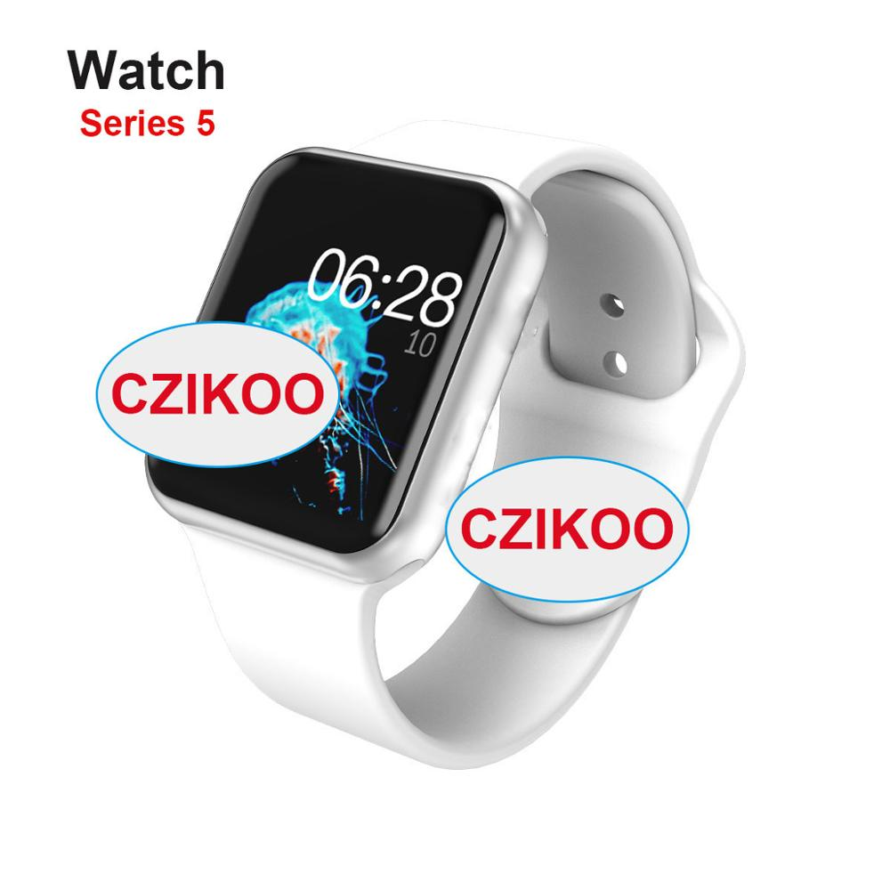 iwo <font><b>12</b></font> <font><b>Smart</b></font> <font><b>Watch</b></font> Series 5 1.54 inch Clock Sync Notifier Support Connectivity for iphone Android for iwo 10 iwo 11 iwo 8 iwo image