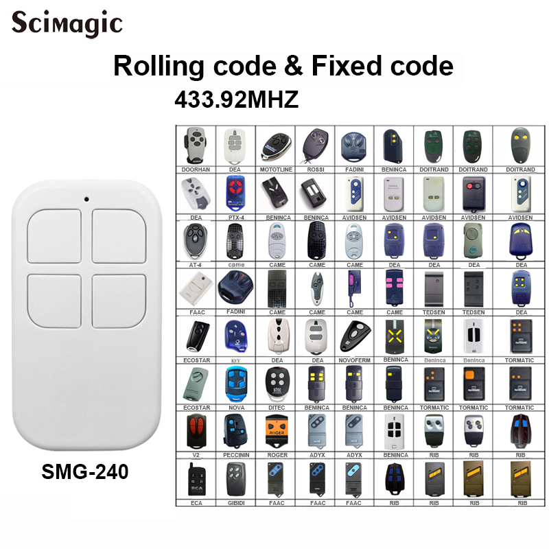 Auto Scan Frequency 433MHz Cloning Universal Garage Remote Control Duplicator 433.92 MHz Rolling Code And Fixed Code