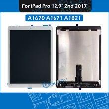 Dla iPad Pro 12.9 2nd generacji 2017 A1670 A1671 A1821 wyświetlacz LCD ekran dotykowy Panel digitizera zgromadzenie z mała płyta