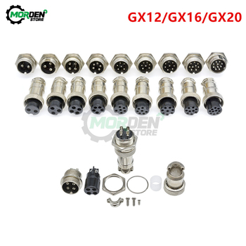 GX12 GX16 GX20 2/3/4/6/7/8/9/10 Pin Male Female Aviation Connector Socket 12mm 16mm 20mm Plug Wire Panel Mount Circular socket image
