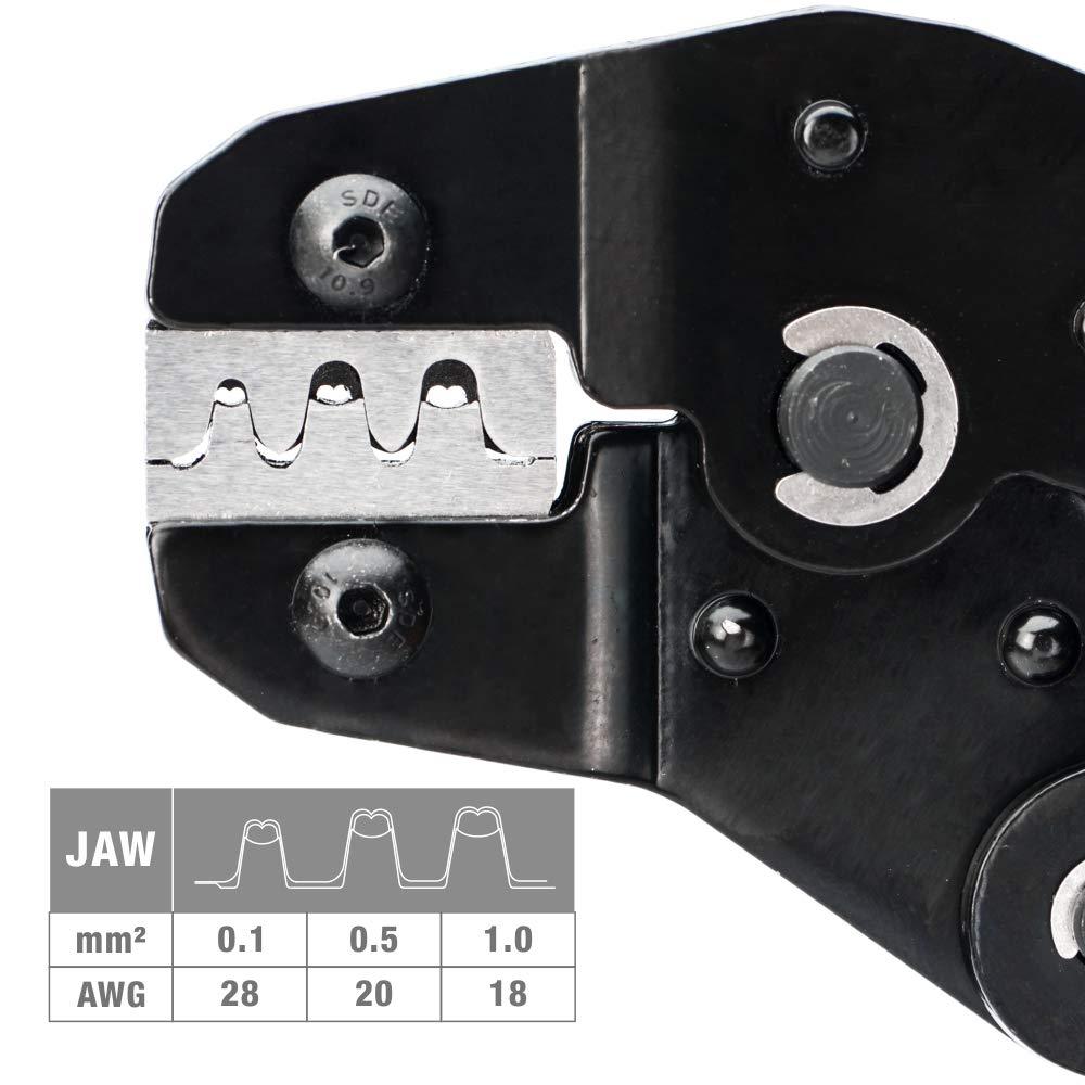 Tools : IWISS SN-025 F Crimp Dupont Terminal Crimp Tool AWG 28-18 0 1-1mm      for  MINI-PV Connectors Molex KK 396 Micro Timer Connectors