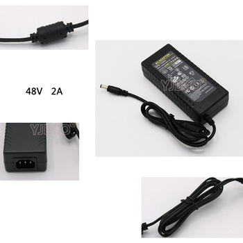 LED Driver AC 100-240V to DC 48V 2A Power Supply Charger Adapter Transformer 220V 48V 96W Converter with power cord 100% original mean well gst90a48 p1m 48v 1 87a meanwell gst90a 48v 90w ac dc high reliability industrial adaptor
