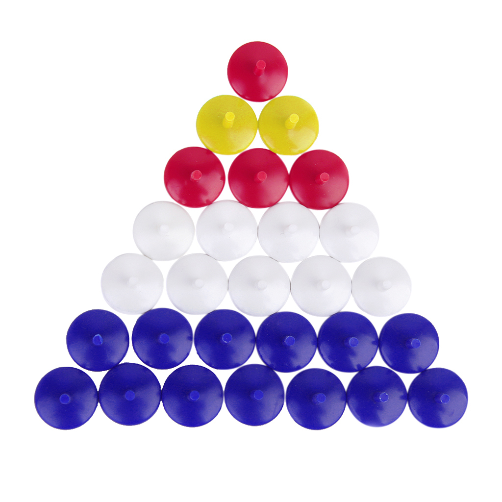 50pcs Golf Position Marker Flat Round Plastic Golf Ball Multicolor Markers