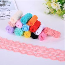 Wide 4.6cm polyester Lace Trim Ribbon Apparel Sewing/Fabric DIY craft Garment Decor Wedding party Scrapbook necklace wave Wh(China)