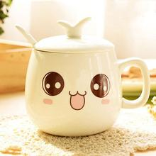 Drinkware Coffee-Mug Ceramic Cute Kawaii Mugs-Juice Porcelain Gift Milk Expression Creative