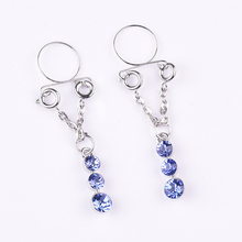 Stainless Steel Pendant-studded Fake Breast Ring Non Pierced Clip