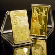 500 euro ouro barra de notas 24k 999.9 ouro chapeado barras de metal lembrança presentes arte collectible ornamento