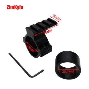 Image 3 - 30 millimetri Anello di supporto di Portata Torcia Elettrica Adattatore di Montaggio Morsetto Con 20mm Weave guida di Picatinny