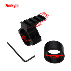 Image 3 - 30mm Ring Scope Flashlight Mount Adaptor Clamp With 20mm Weave Picatinny Rail
