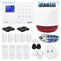 HOMSECUR Drahtlose 3G/GSM WIFI Home Security Alarm System LA02 3G + Solar Powered Freien Strobe Sirene PIR Rauch sensor Tür Sensor-in Alarm System Kits aus Sicherheit und Schutz bei