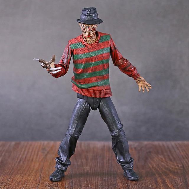 "NECA Nightmare On Elm Street Freddy Krueger 30th PVC Action Figureของเล่นสะสม7 ""18ซม"