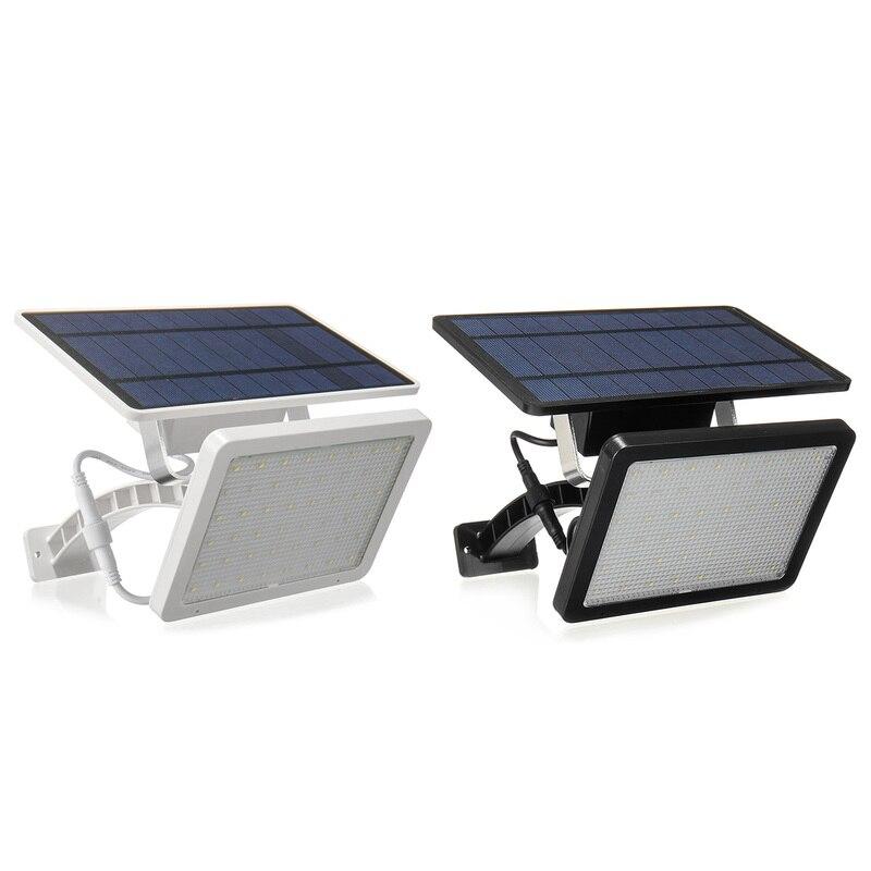 48led 18 w led painel solar alimentado luz jardim lampada de rua a prova dwaterproof agua