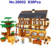 Ausini 28002 838 шт город средневековый счастливый ферма строительные блоки 3 фигурки игрушки