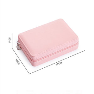 Image 2 - Jewelry Box Travel Comestic Jewelry Casket Organizer Makeup Lipstick Storage Box Beauty Container Necklace Birthday Gift