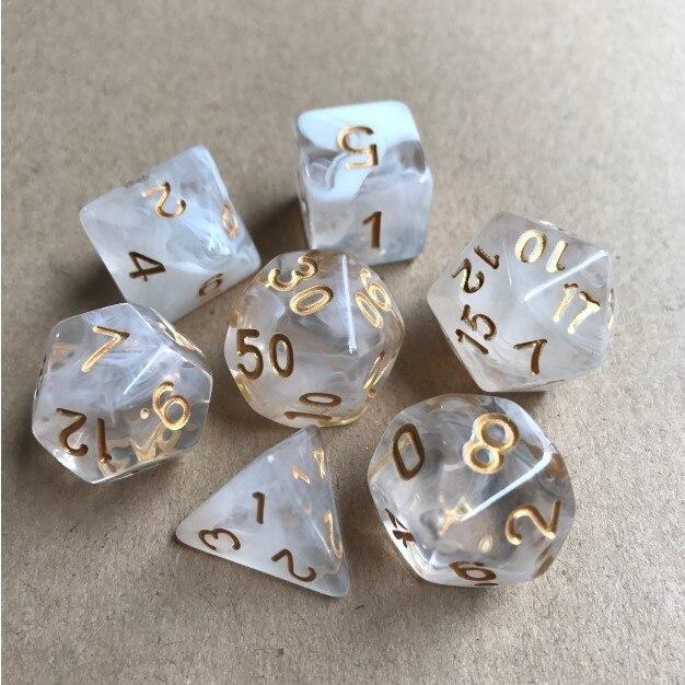 New Dnd dice set dobbelstenen dados rpg dice dadi dados rol  playing cubes dado polyhedral dice  7pcs/Set