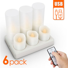 Rechargeable Led Candles Flashing Flameless Tea Light With Remote Control And Batteries Decoration Candle For Christmas Birthday