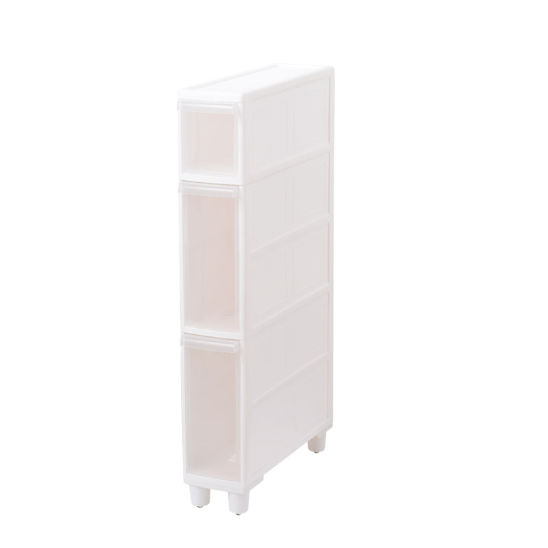 Multi-Function Gap Shelves Mobile Storage Rack Kitchen Bathroom Drawers Quilted Cabinets Toilet Storage With Roller