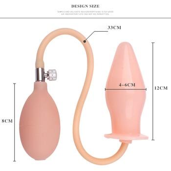 Size Beige inflatable plug