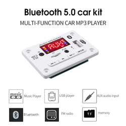 KEBIDU-placa decodificadora de reproductor mp3, 5V, 12V, USB / TF / FM / LINE IN/BLUETOOTH, conmutación por voz para coche con Control remoto