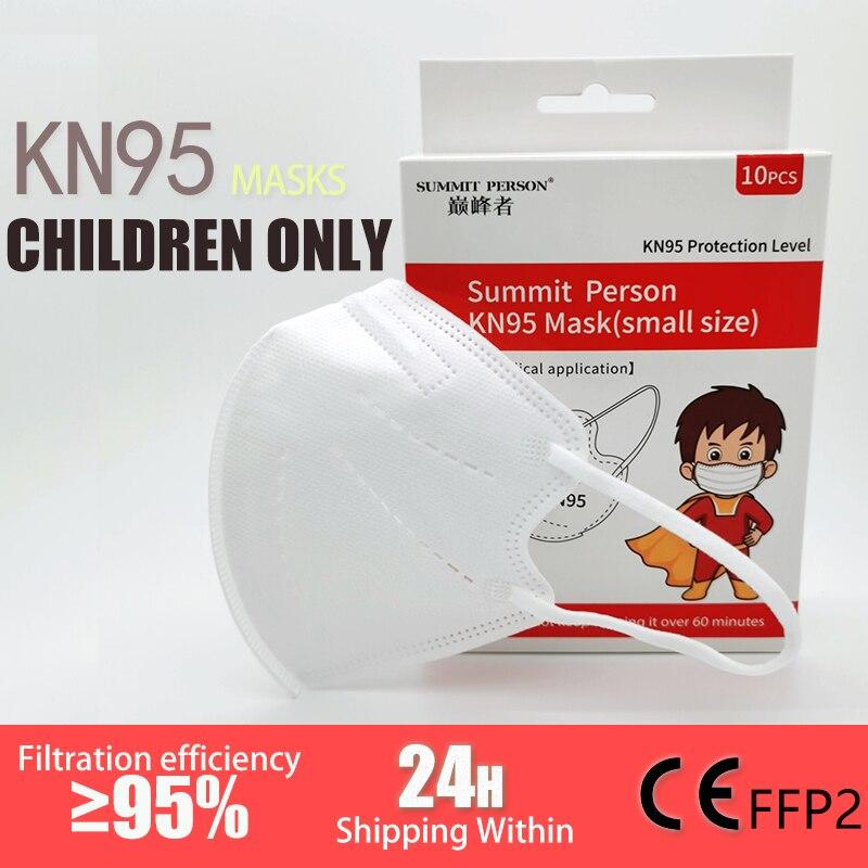 5 couches KN95 masque pour 3-15 vieux enfants enfant poussière KN95 filtre FFP2 masque protecteur garçons filles CE respirateur ffp2masque