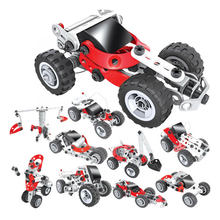 10in1 Engineering Electronic Car Robot Model Creative science DIY block Intelligent Assembly tool Construction Toy for Children(China)