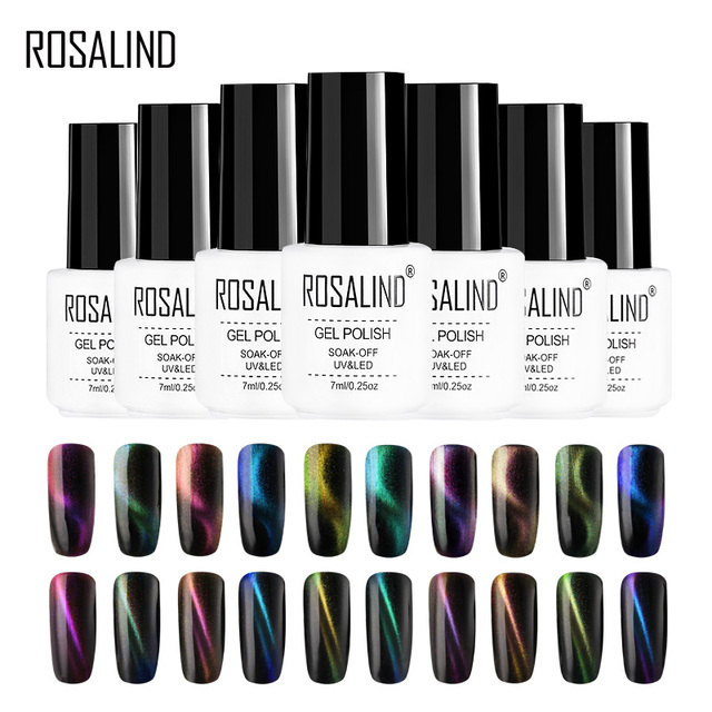 ROSALIND 4D Cat Eye Gel Nail Polish vernis semi permanent UV Nail Art For a Manicure nail gel primer Top Coat Gel Varnish