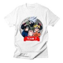 Camiseta del equipo 7 de Naruto para hombre, ropa informal de algodón con estampado divertido de Anime, cómoda y transpirable, talla XL