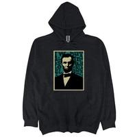 men/women Hooded Pullover cotton sweatshirt Abraham Lincoln Men's Premium autumn winter streetwear fashion casual hoodies