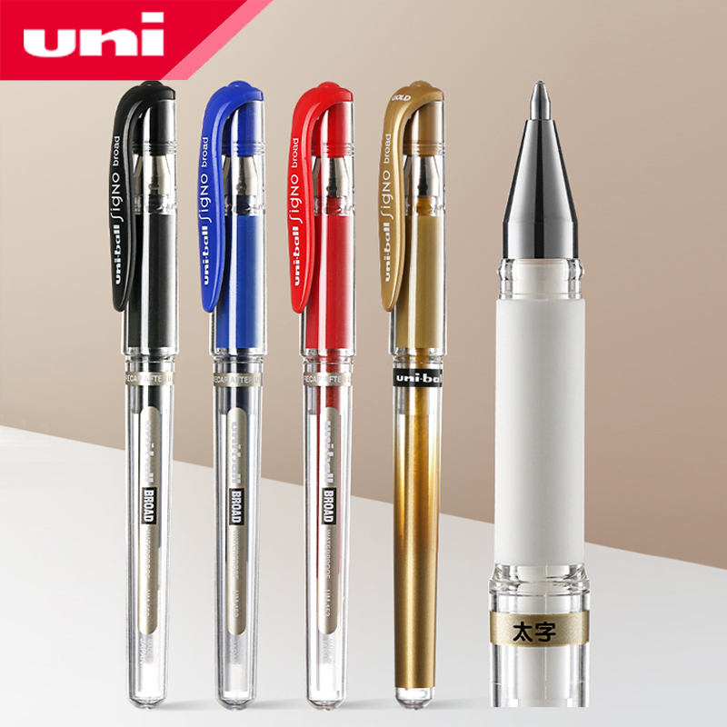 Uni-Ball Signo UM-153 1.0mm Broad Gel Ink Rollerball pen for Black papers Gold